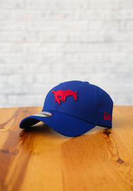 SMU Mustangs New Era The League 9FORTY Adjustable Hat - Blue