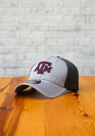 Texas A&M Aggies New Era Grayed Out Neo 39THIRTY Flex Hat - Grey