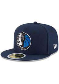 Dallas Mavericks Youth New Era Jr 59FIFTY Fitted Hat - Navy Blue