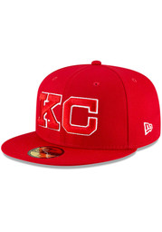 Kansas City Monarchs New Era 2020 Negro Leagues Game Fitted Hat - Red