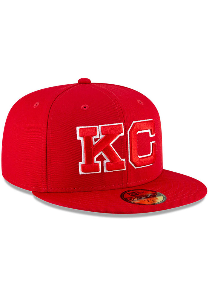 New Era Kansas City Monarchs Mens Red 2020 Negro Leagues Game Fitted Hat - Image 2