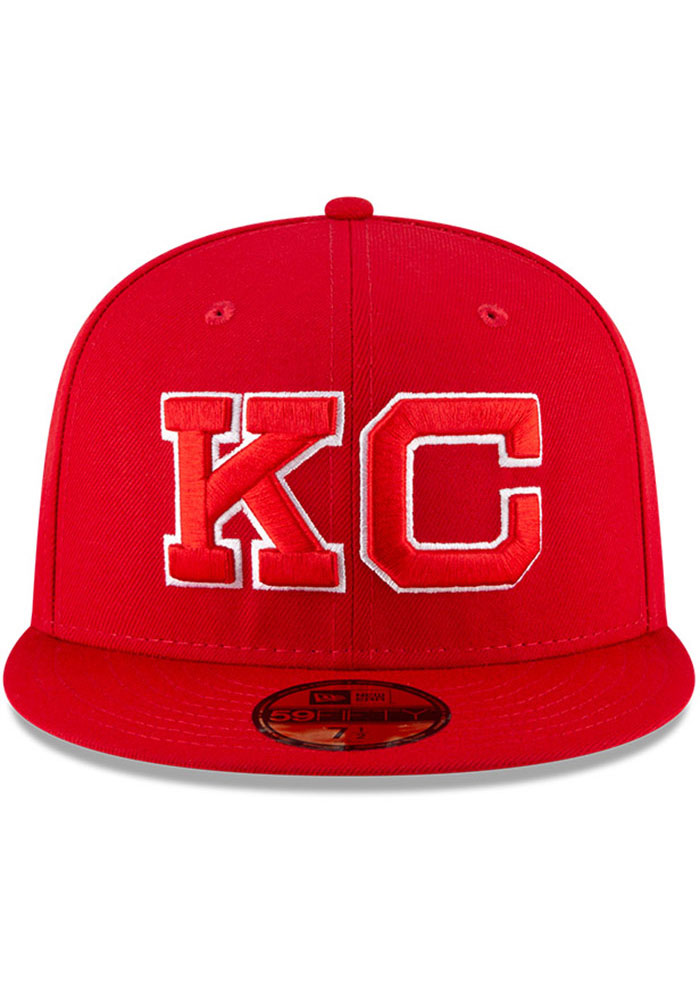 New Era Kansas City Monarchs Mens Red 2020 Negro Leagues Game Fitted Hat - Image 3