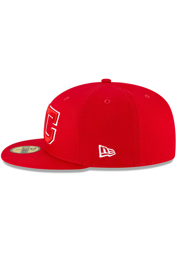 New Era Kansas City Monarchs Mens Red 2020 Negro Leagues Game Fitted Hat - Image 4