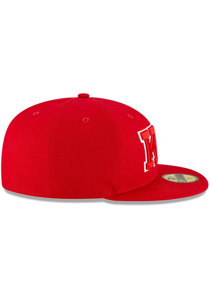 New Era Kansas City Monarchs Mens Red 2020 Negro Leagues Game Fitted Hat - Image 6