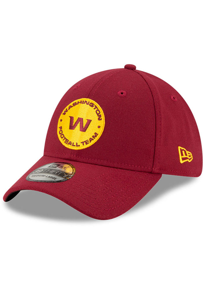 New Era Washington Redskins Mens Maroon Team Classic 39THIRTY Flex Hat - Image 1