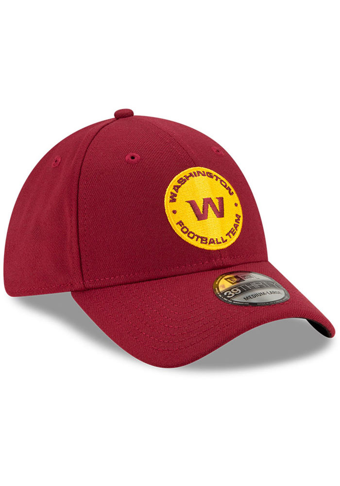 New Era Washington Redskins Mens Maroon Team Classic 39THIRTY Flex Hat - Image 2