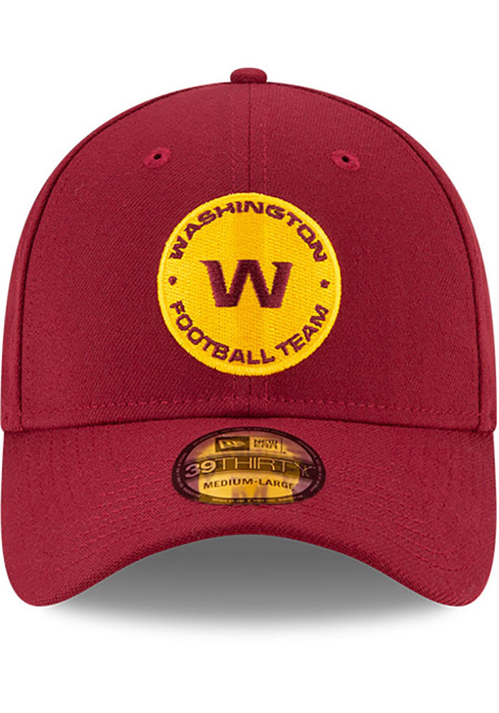 New Era Washington Redskins Mens Maroon Team Classic 39THIRTY Flex Hat - Image 3