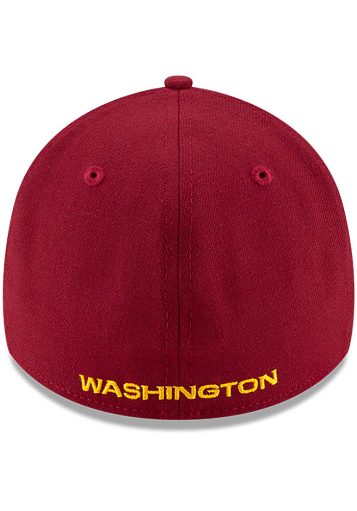 New Era Washington Redskins Mens Maroon Team Classic 39THIRTY Flex Hat - Image 5