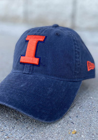 Illinois Fighting Illini New Era Core Classic 9TWENTY Adjustable Hat - Grey
