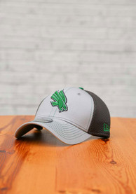 North Texas Mean Green New Era Grayed Out Neo 39THIRTY Flex Hat - Grey