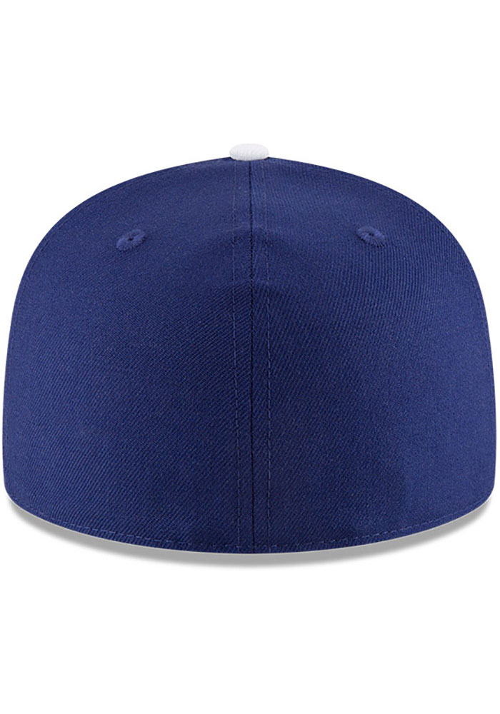 New Era Los Angeles Dodgers Mens Blue World Series Side Patch 59FIFTY Fitted Hat - Image 3
