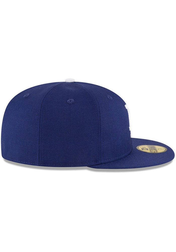 New Era Los Angeles Dodgers Mens Blue World Series Side Patch 59FIFTY Fitted Hat - Image 4