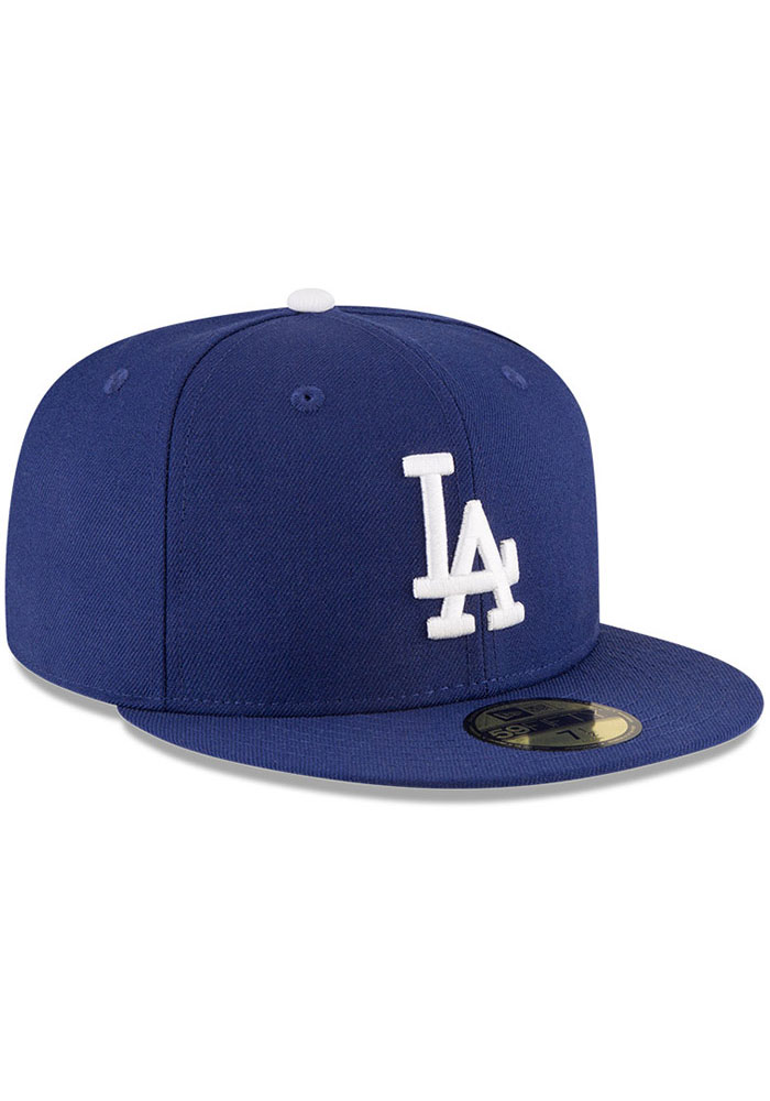 New Era Los Angeles Dodgers Mens Blue World Series Side Patch 59FIFTY Fitted Hat - Image 5