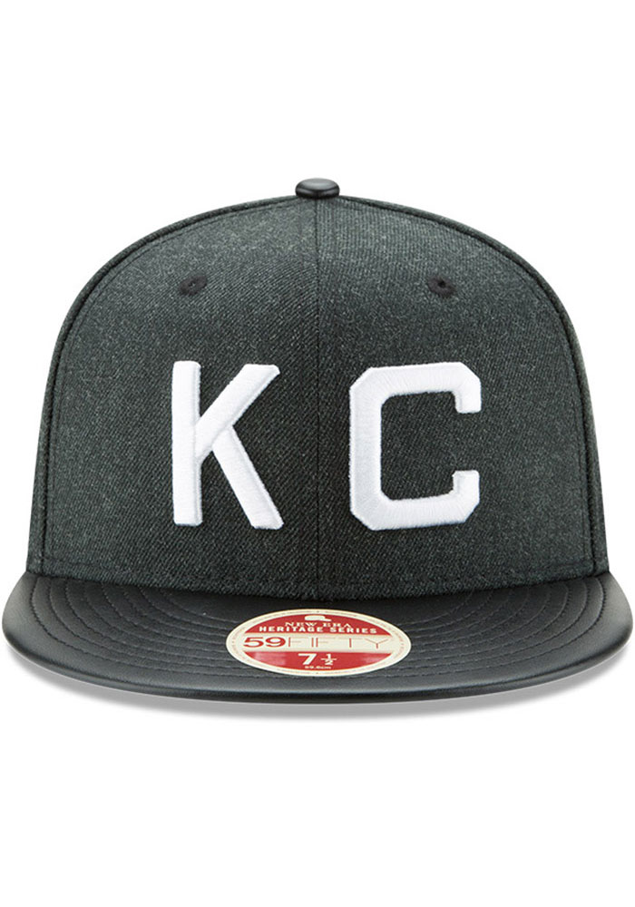 New Era Kansas City Monarchs Mens Green Team Classical 59FIFTY Fitted Hat - Image 3