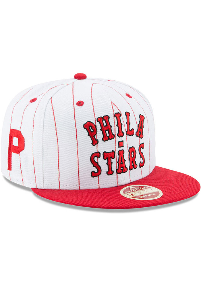 New Era Philadelphia Phillies White Jersey Striped 9FIFTY Mens Snapback Hat - Image 2