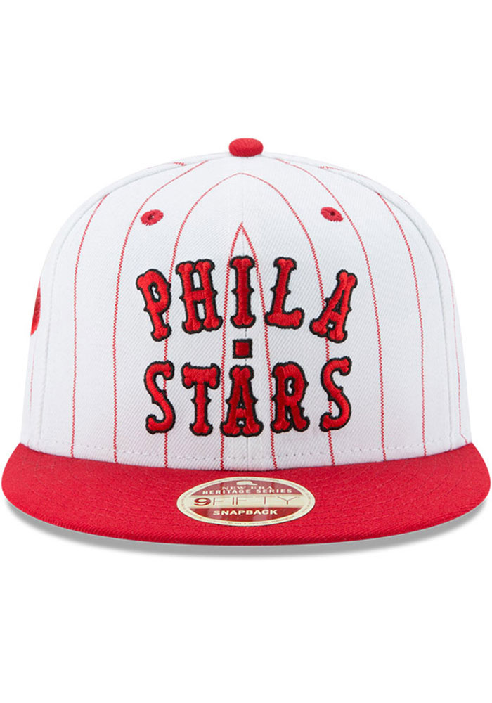 New Era Philadelphia Phillies White Jersey Striped 9FIFTY Mens Snapback Hat - Image 3