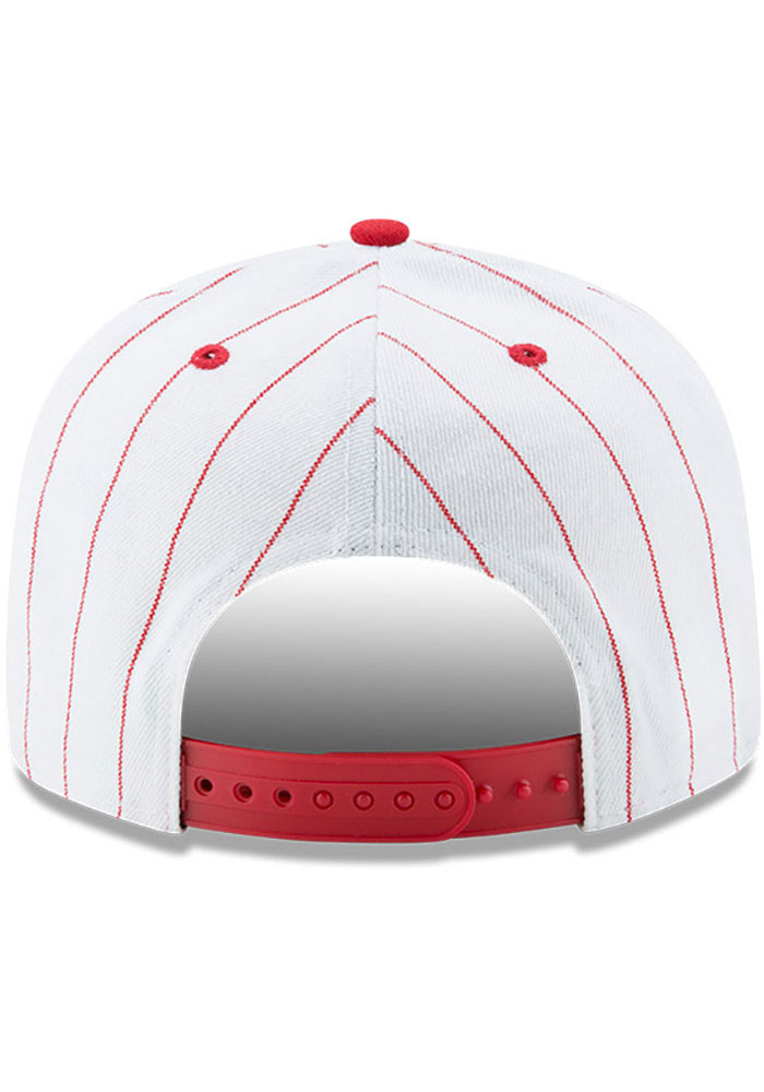 New Era Philadelphia Phillies White Jersey Striped 9FIFTY Mens Snapback Hat - Image 5