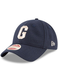 Homestead Grays New Era Vintage Front 9TWENTY Adjustable Hat - Navy Blue