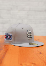 St Louis Cardinals New Era Tonal Navy Pop 2006 WS Side Patch 59FIFTY Fitted Hat - Grey