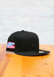 St Louis Cardinals New Era Tonal Sky Blue UV 1982 WS Side Patch 59FIFTY Fitted Hat - Black