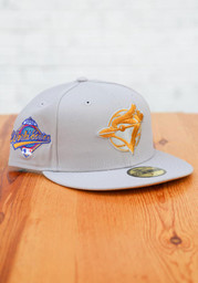 Toronto Blue Jays New Era Tonal Tan Pop 1993 WS Side Patch 59FIFTY Fitted Hat - Grey
