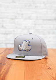 Montreal Expos New Era Tonal Royal Pop Cooperstown 59FIFTY Fitted Hat - Grey