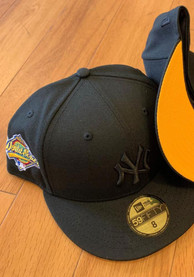 New York Yankees New Era Tonal Gold UV 1996 WS Side Patch 59FIFTY Fitted Hat - Black