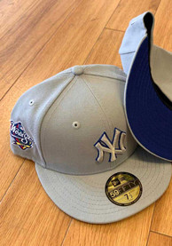 New York Yankees New Era Tonal Royal Pop 1998 WS Side Patch 59FIFTY Fitted Hat - Grey