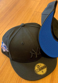 New York Yankees New Era Tonal Blue UV 2000 WS Side Patch 59FIFTY Fitted Hat - Black