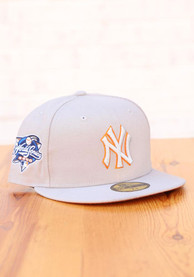 New York Yankees New Era Tonal Rust Pop 2000 WS Side Patch 59FIFTY Fitted Hat - Grey