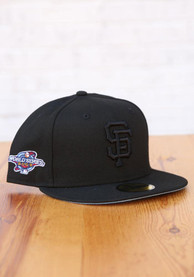 San Francisco Giants New Era Tonal Blue UV 2002 WS Side Patch 59FIFTY Fitted Hat - Black