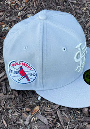 St Louis Cardinals New Era Tonal Gray 1942 World Series Side Patch 59FIFTY Fitted Hat - Grey
