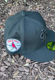 St Louis Cardinals New Era Tonal 1942 World Series Side Patch 59FIFTY Fitted Hat - Black