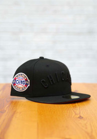 Chicago Cubs New Era Tonal Red UV 1907 WS Side Patch 59FIFTY Fitted Hat - Black