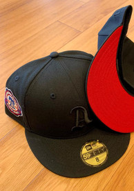 Philadelphia Athletics New Era Tonal Red UV 1910 WS Side Patch 59FIFTY Fitted Hat - Black