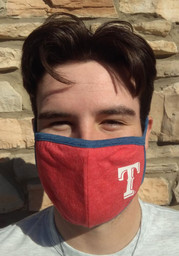 New Era Texas Rangers Team Color Fan Mask - Red
