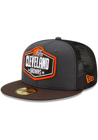 Cleveland Browns New Era 2021 NFL Draft 59FIFTY Fitted Hat - Grey