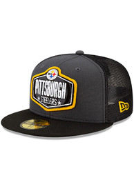 Pittsburgh Steelers New Era 2021 NFL Draft 59FIFTY Fitted Hat - Grey