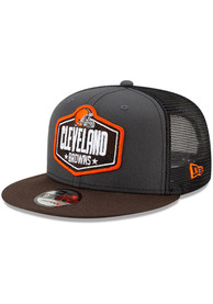 Cleveland Browns New Era 2021 NFL Draft 9FIFTY Snapback - Grey