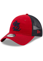 St Louis Cardinals Youth New Era Cooperstown JR Team Fronted 9TWENTY Adjustable Hat - Red