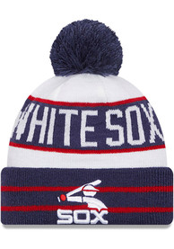 Chicago White Sox New Era Cooperstown Fan Fave Cuff Knit - Navy Blue