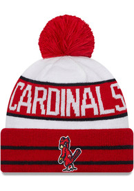 St Louis Cardinals New Era Cooperstown Fan Fave Cuff Knit - Red