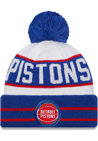 Detroit Pistons New Era Fan Fave Cuff Knit - Blue