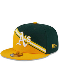 Oakland Athletics New Era Cooperstown Color Cross 9FIFTY Snapback - Green