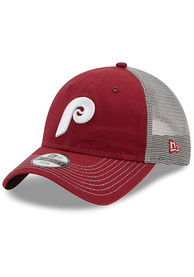 Philadelphia Phillies Toddler New Era Cooperstown JR Team Fronted 9TWENTY Adjustable - Maroon