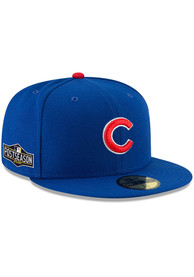 Chicago Cubs New Era AC 2020 Postseason Side Patch 59FIFTY Fitted Hat - Blue
