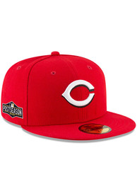 Cincinnati Reds New Era AC 2020 Postseason Side Patch 59FIFTY Fitted Hat - Red