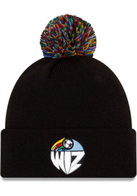 Sporting Kansas City New Era KC Wizards Retro Hooked Cuff Pom Knit - Black