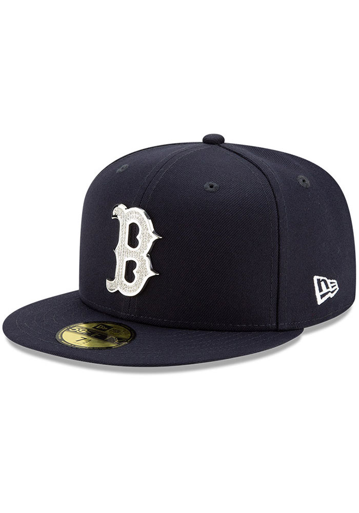 Boston Red Sox New Era Team Gem 59FIFTY Fitted Hat - Navy Blue