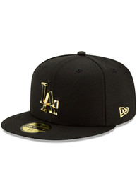 Los Angeles Dodgers New Era Metal Beveled 59FIFTY Fitted Hat - Black